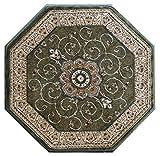 Traditional Octagon Area Rug Design # 404 Green (4 Feet X 4 Feet) Octagon Review