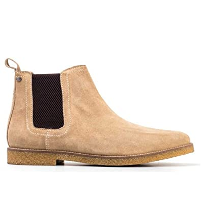 5250f3fb3b2ba2 Base London Men Taupe Suede  Ferdinand  Chelsea Boots 6  Amazon.co ...