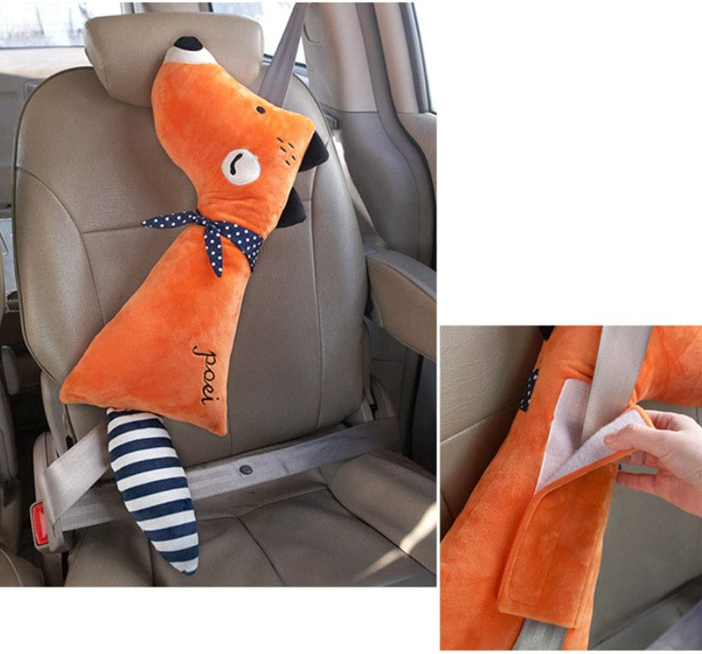 Calf Takefuns Cartoon Seat Belt Pads,Animal Seat belt Pillow,Car Safety Seat Strap Protector Cushion,Soft Vehicle Shoulder Pad,Cute Stuffed Toys for Child