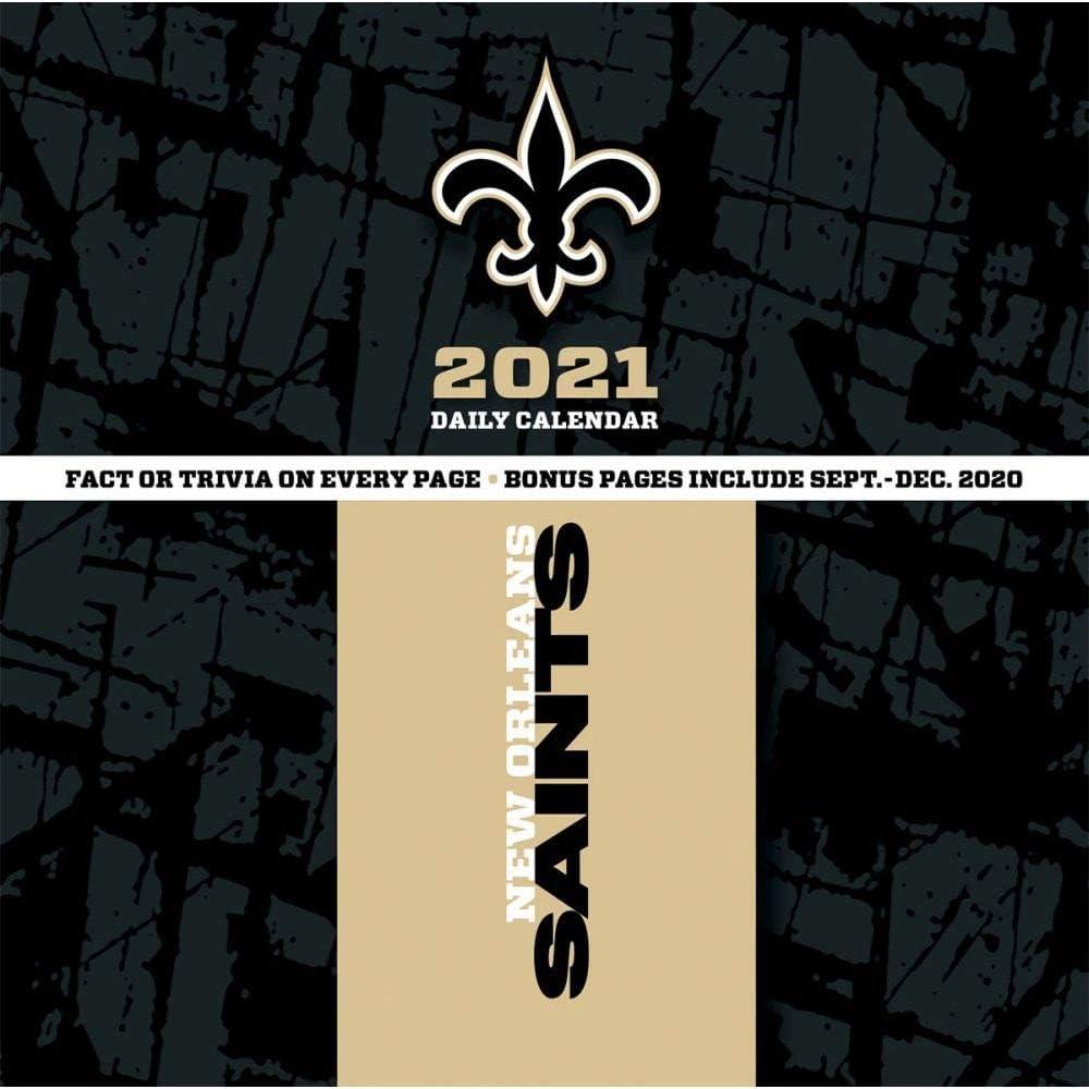 TURNER Sports New Orleans Saints 2021 Box Calendar 21998051446