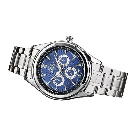Reloje de Pulsera para Hombre Reloj de Lujo de Acero Inoxidable de Alta Calidad Moderno Classic Impermeable Minimalista Business Relojes: Amazon.es: Relojes