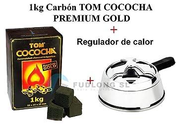 [PACK] 1kg CARBÓN para cachimba TOM COCOCHA PREMIUM GOLD, KALOUD premium