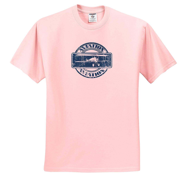 Aviation Classic Vintage Aviation Nose Art Design of a Vintage Biplane 3dRose Macdonald Creative Studios T-Shirts
