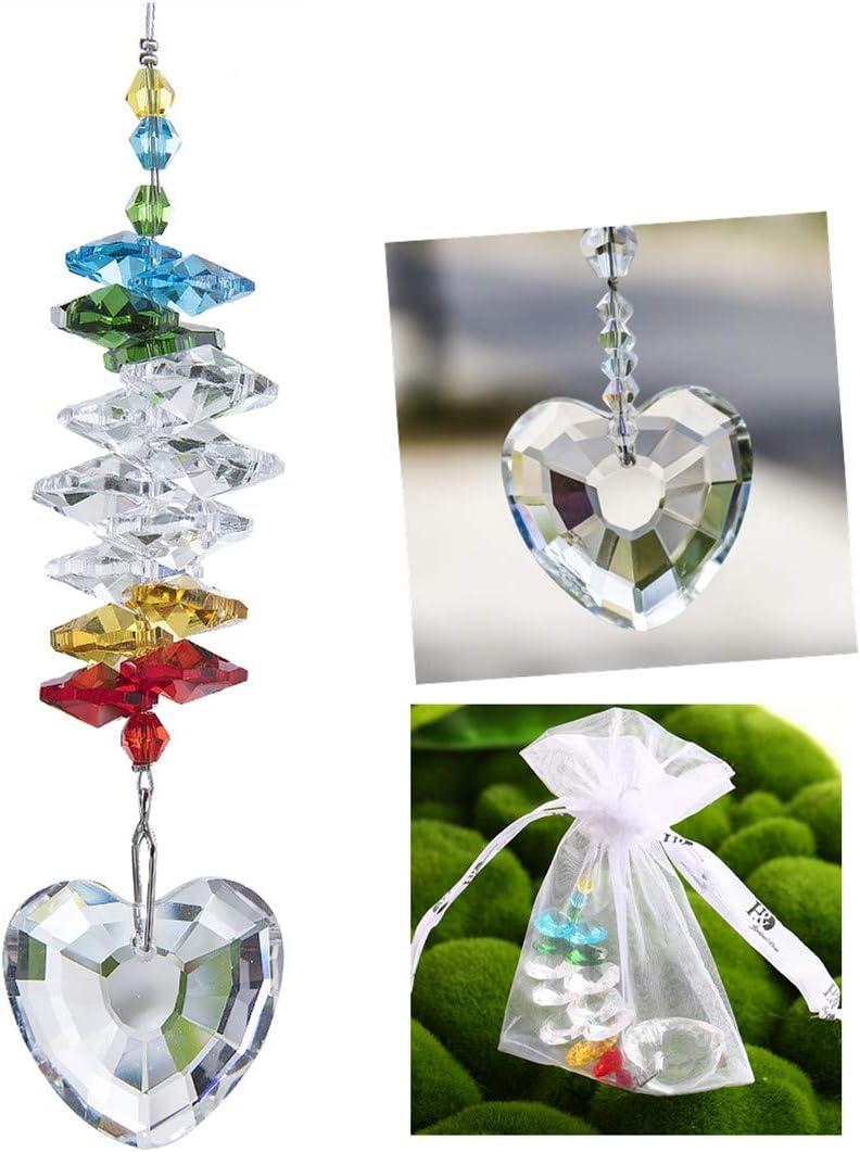 Kristallener Schmetterling-Sonnenf/änger von H/&D Feng Shui Regenbogenmacher Kronleuchter Prisma Fensteranh/änger