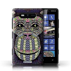 Kobalt® protector duro de nuevo caso / cubierta para el Nokia Lumia 820 | Mono-Coloreado Diseño | Aztec Animal Design colección