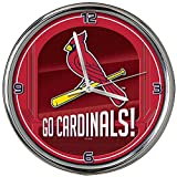 MLB St. Louis Cardinals Go Team! Chrome Clock, One Size, Multicolor