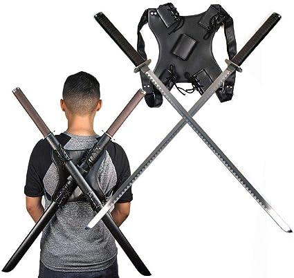 Amazon.com: Ace Martial Arts Supply dos espadas ninjas con ...