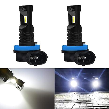 KaTur Automobile LED Xenon Blanco H11 / H8 / H9 Drying Fog Luces diurnas DRL Lámparas con Top ...