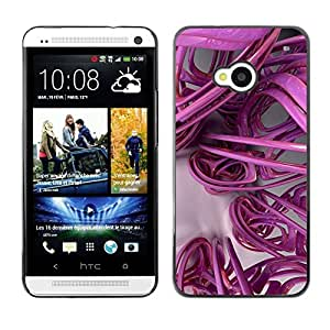 FECELL CITY // Duro Aluminio Pegatina PC Caso decorativo Funda Carcasa de Protección para HTC One M7 // 3D Lines Abstract Plastic Art