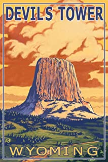 product image for Devil's Tower, Wyoming (12x18 Art Print, Wall Decor Travel Poster)