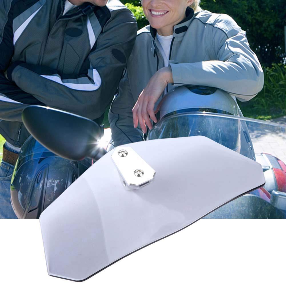 ABS + alliage daluminium Fum/é Aramox Pare-brise//d/éflecteur de vent//pare-brise ajustables pour moto universelle verre