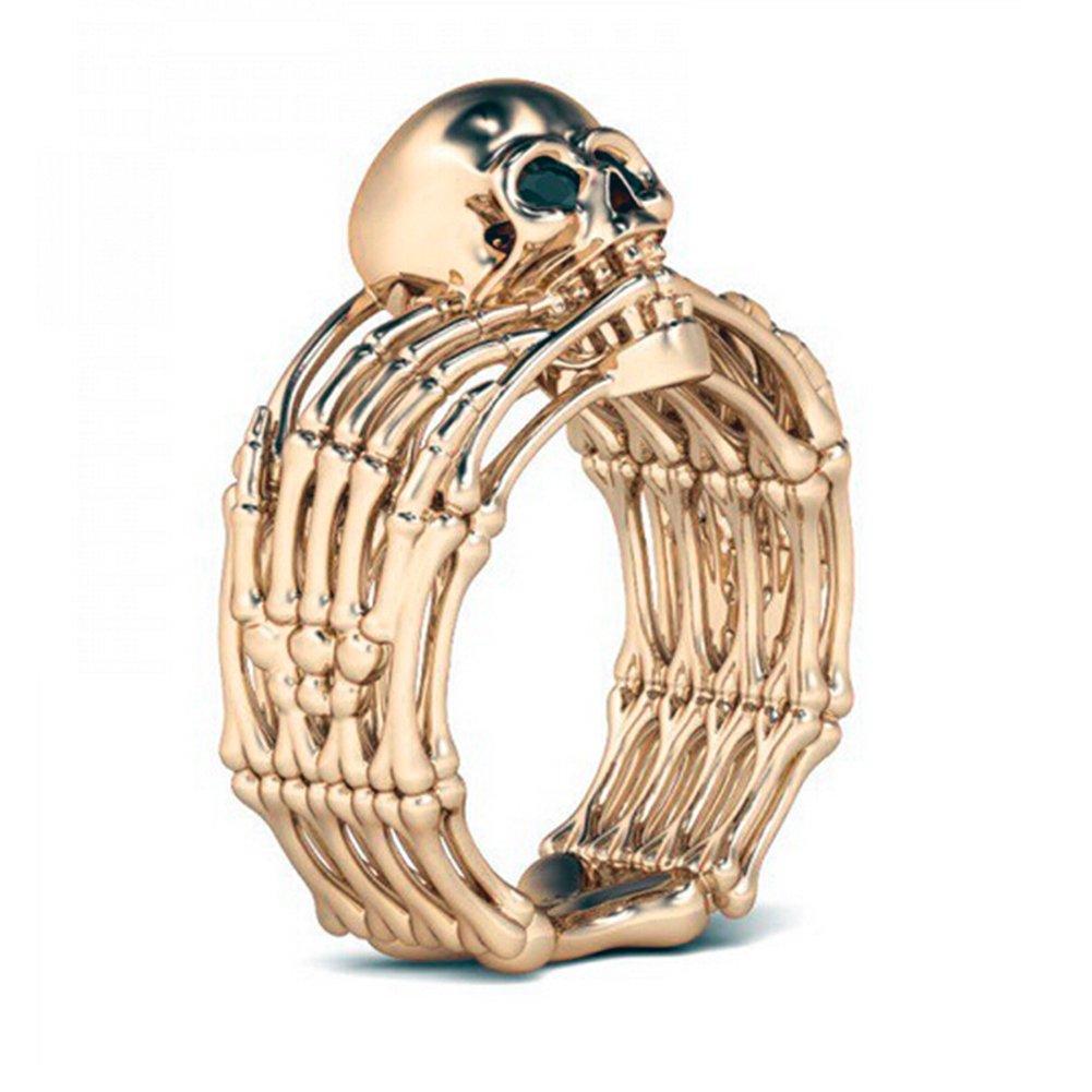 Octopus Skull Rings Men's Vintage Rose Gold Pirate Jewelry SUM®