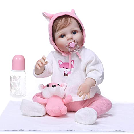 Muñeca Reborn de juguete de 22 pulgadas, realista, suave, de ...