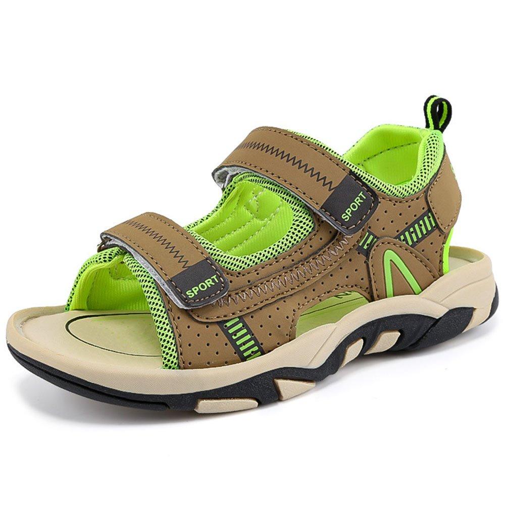 GAXmi Boys Sandals Summer Beach Fisherman Shoes for Toddler Little Big Kid, Green, Big Kid 5 M