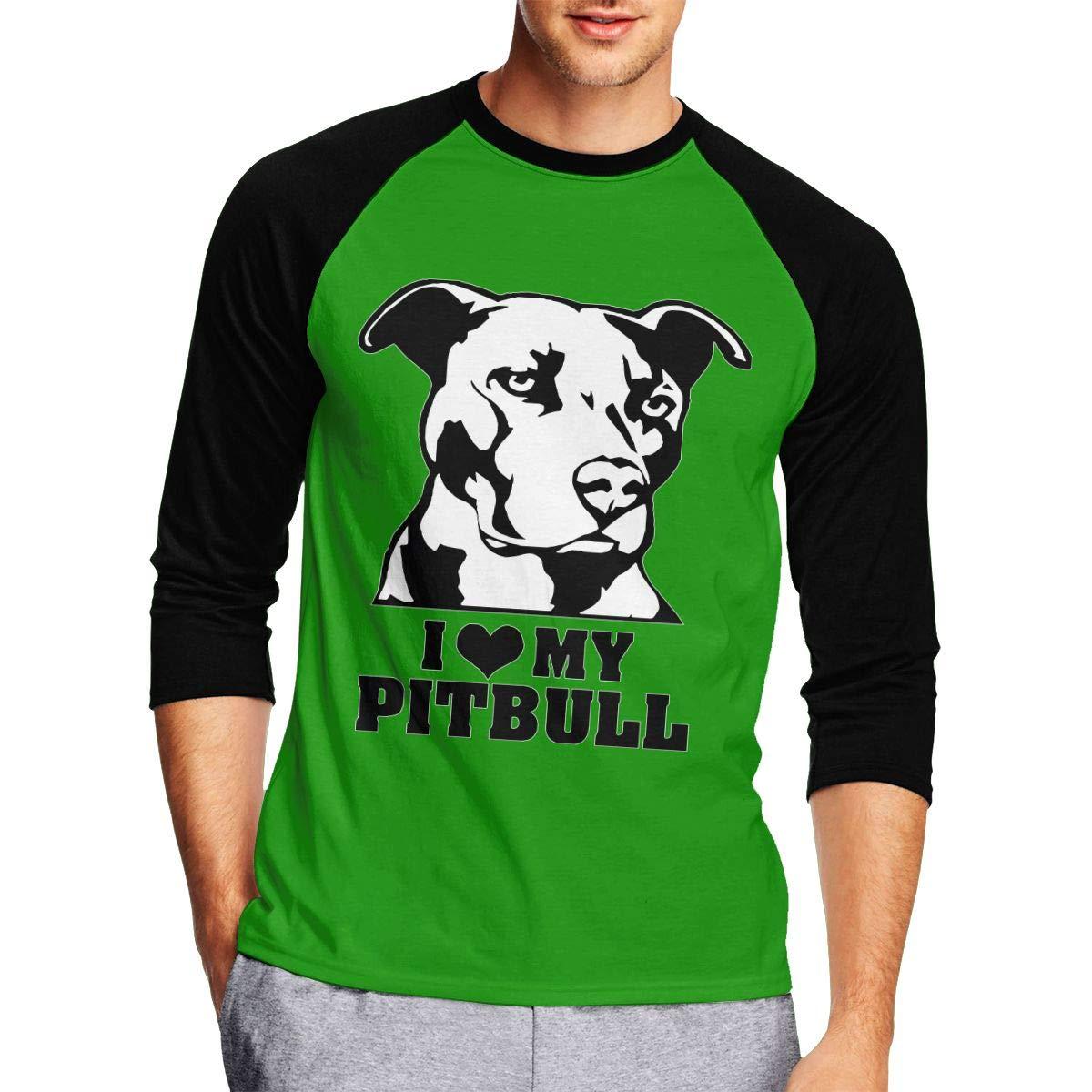 enjoy 50% off I Love My Pitbull Staffy Terrier Dog Mens Cool Adult ...