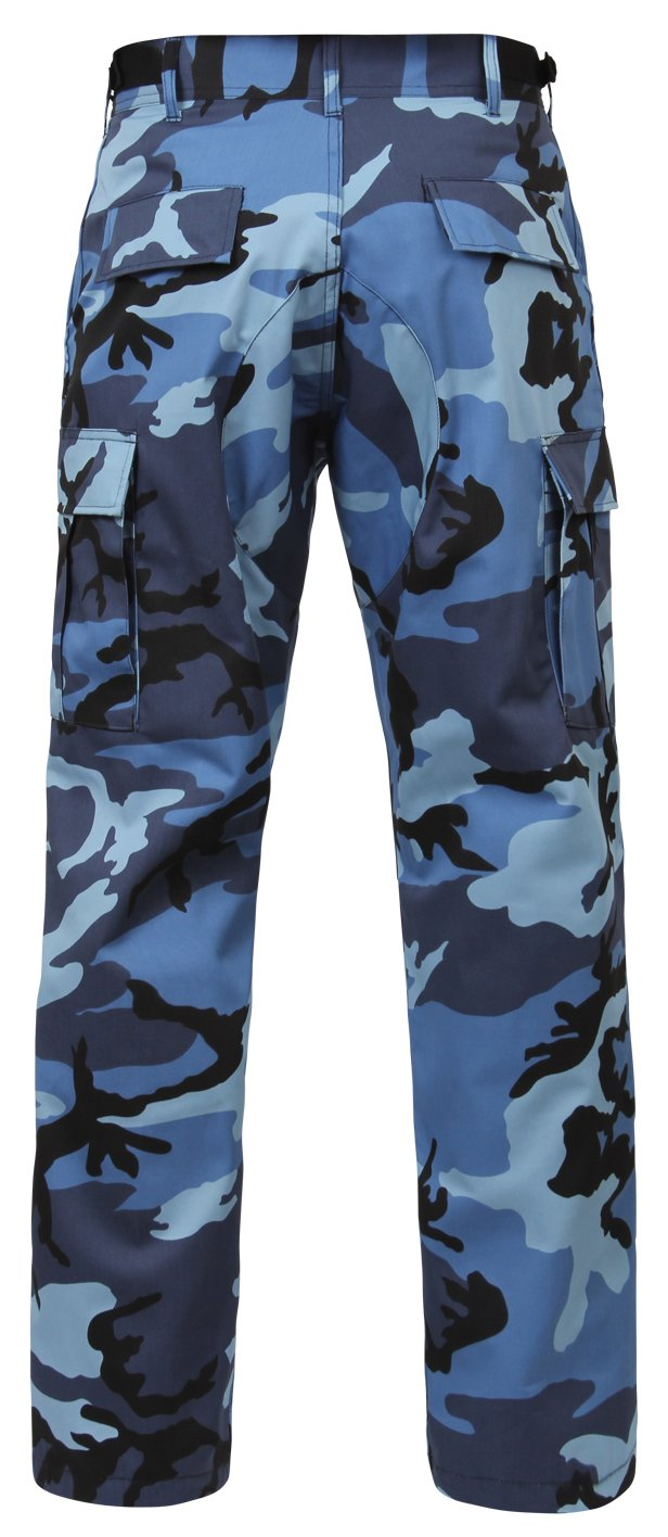 Rothco Bdu Pants, Sky Blue Camo, Small