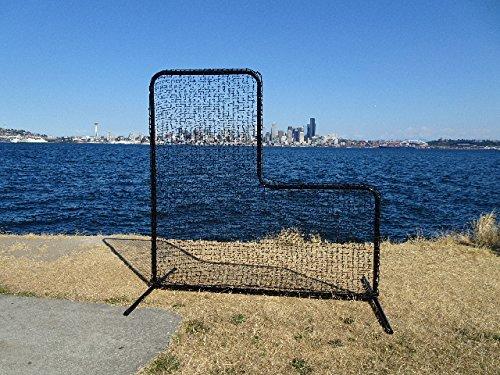 7'x7' L-Screen Baseball Protective Pitcher Screen Kit W/ Net & Frame by Pelican Sports