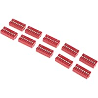 Flameer 10Pcs 1 2 3 4 5 6 8 Position Slide Type DIP Switch Module For Arduino - 8 Position Way