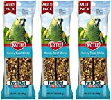Kaytee Forti-Diet Pro Health Honey Parrot Treat Stick Value Pack, 7-Ounce (Pack of 3)