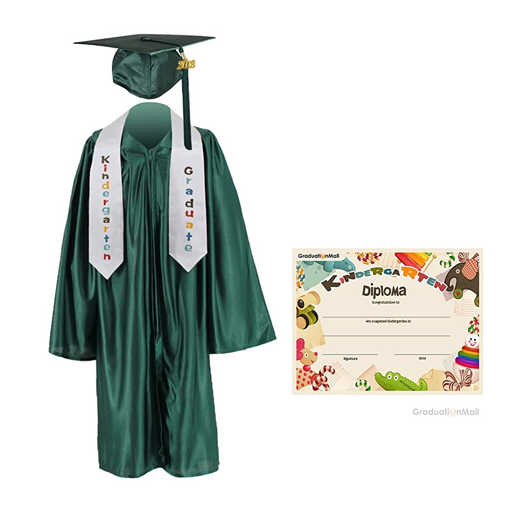 Amazon.com: GraduationMall Kindergarten Graduation Cap Gown Stole ...