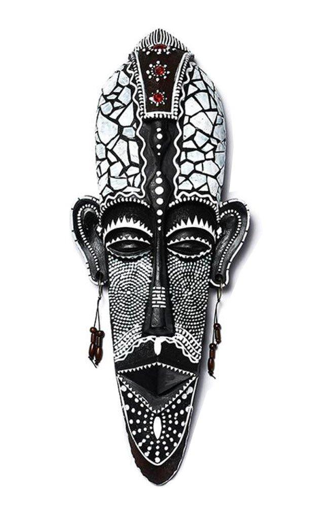 Má scara africana tallada decoració n colgante de pared Black Temptation
