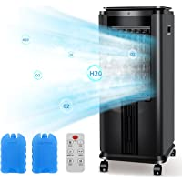 R.W.FLAME Air Conditioner ,Evaporative Air Cooler, 30IN Tower Fan, Built-in Ionizer,12H Timer,40°Oscillation,3 Modes…