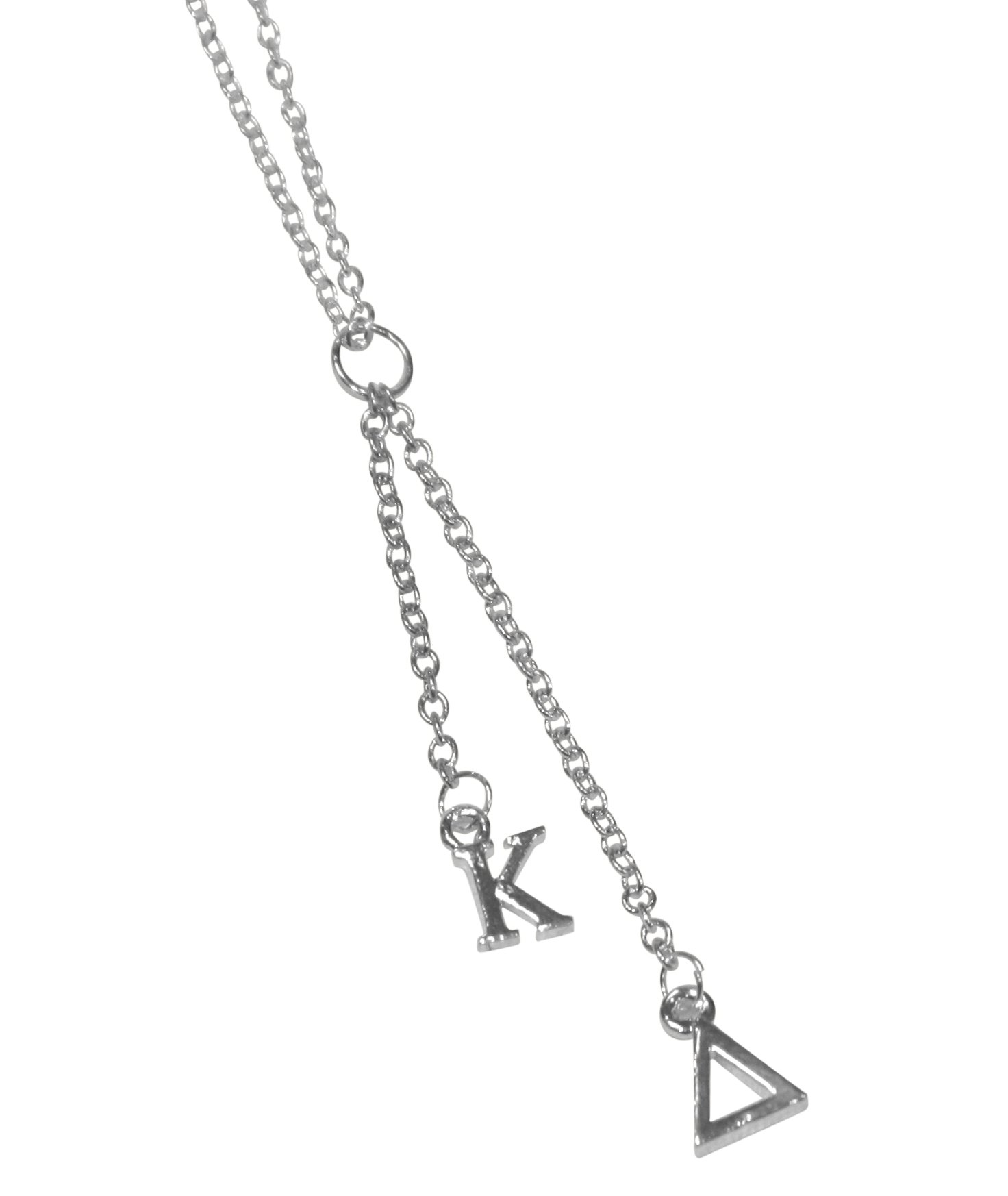 Kappa Delta Sorority Silver Dangle Necklace by Key Your Spirit (Image #1)