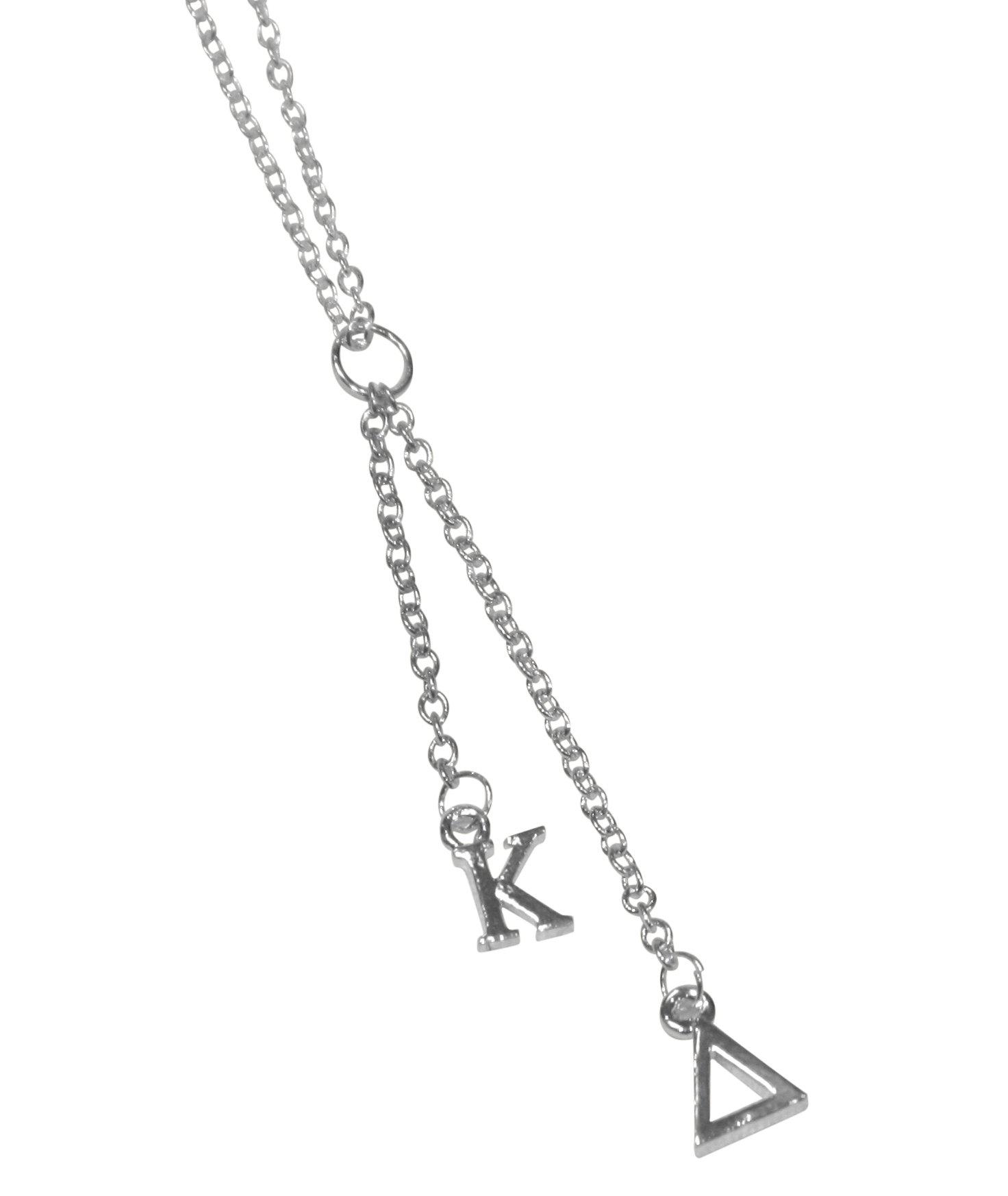 Kappa Delta Sorority Silver Dangle Necklace