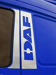 4 piezas decorativas de acero inoxidable cromado para puertas de camiones DAF XF