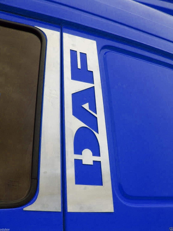 4/piezas decorativas de acero inoxidable cromado para puertas de camiones DAF XF