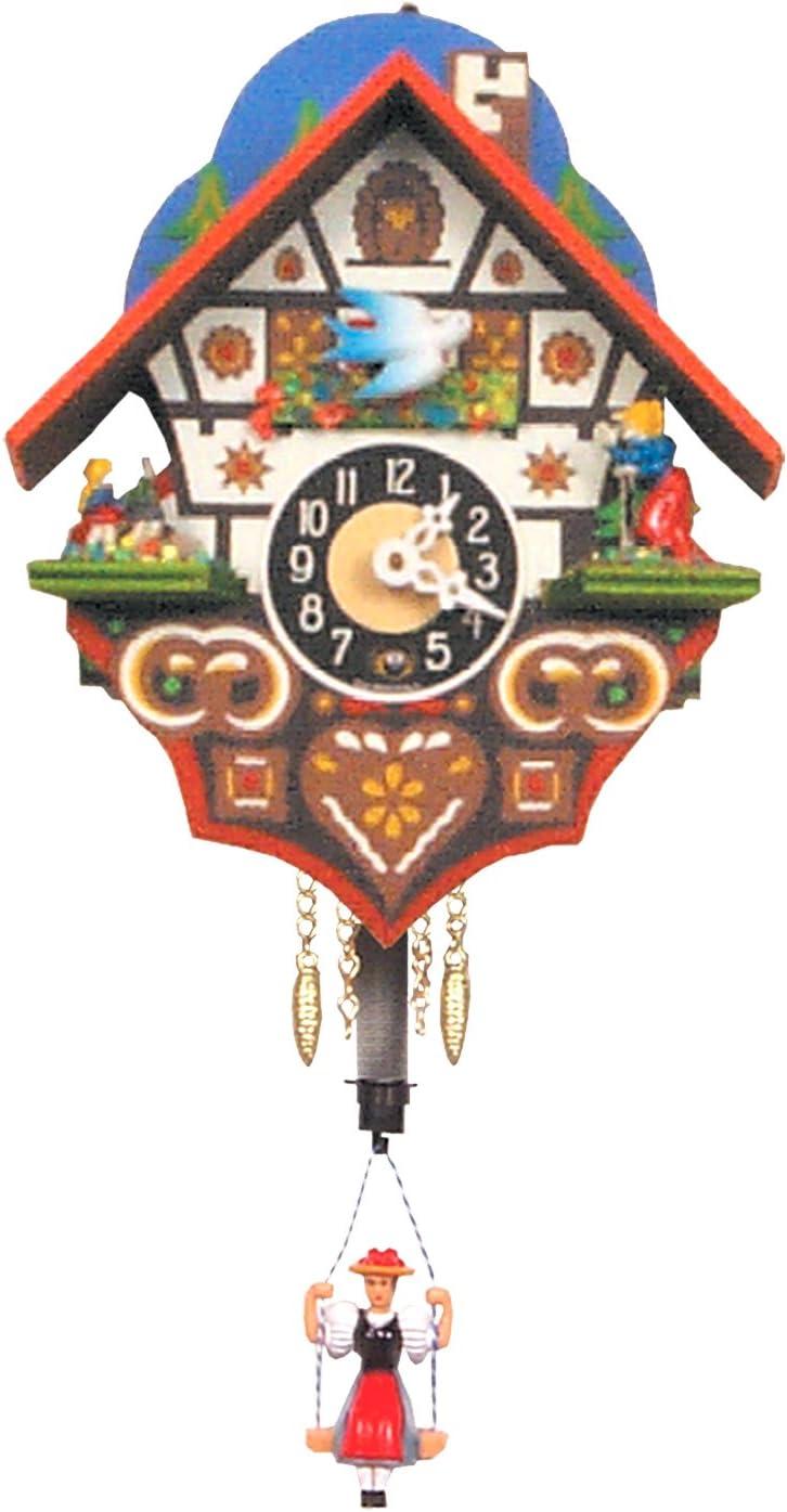 Alexander Taron Seasonal Decorative Collectible Engstler Key Wound Clock Mini Size 6 H x 4.75 W x 3.25 D