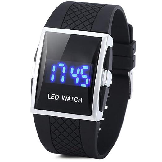 CursOnline Reloj digital de muñeca, diseño de Led rojos Unisex Wrist Watch pantalla muy claro