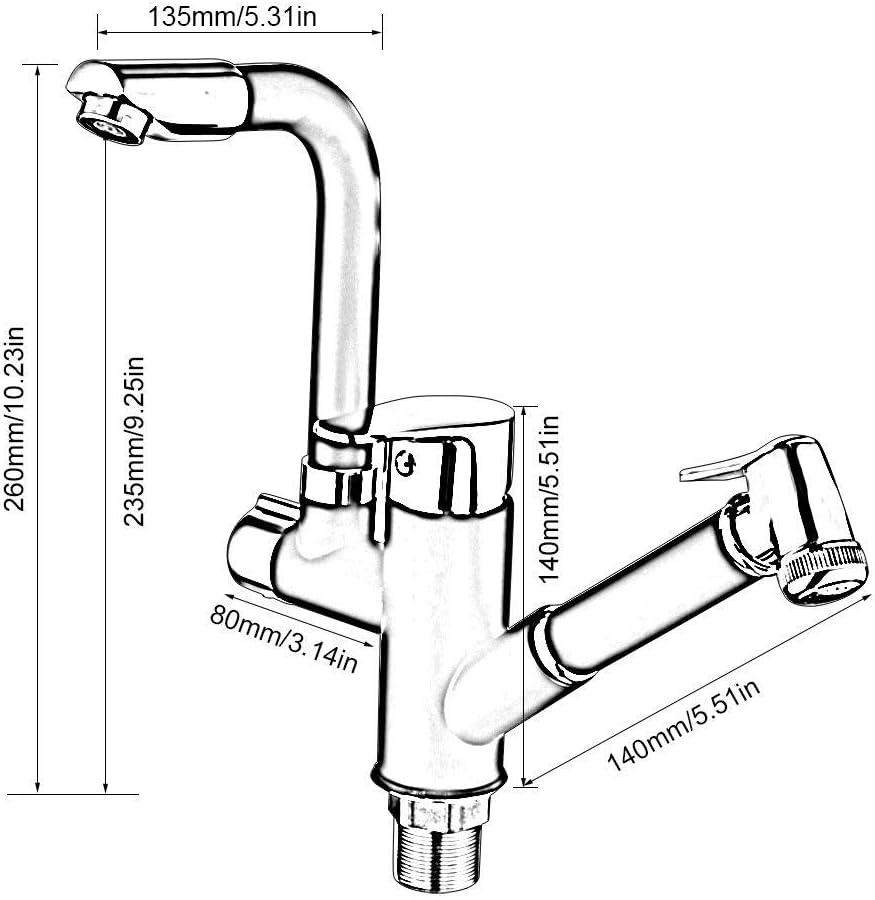 Robinets /évier de Robinet extractible pour Bidet Han 360 /° Vaporisateur de Bidet /à Main Bec pivotant /à 360 /° Swi avec robinets /à Tirer M/élangeur de Cuisine