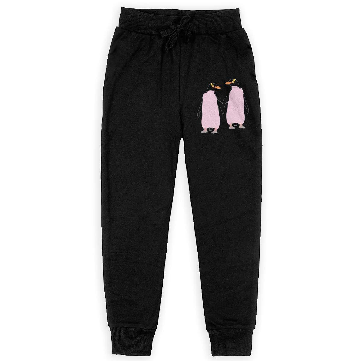 Kim Mittelstaedt Lesbian Penguin Boys Big Active Basic Casual Pants Sweatpants for Boys Black