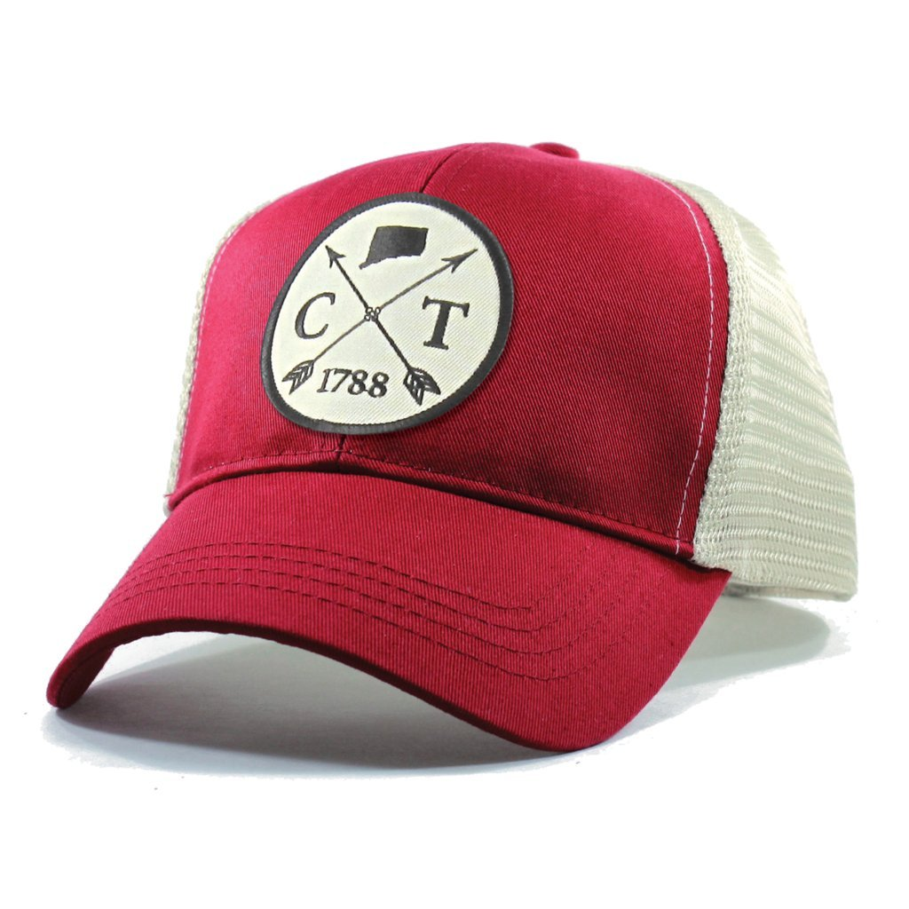 Homeland Tees Mens Connecticut Arrow Patch Trucker Hat