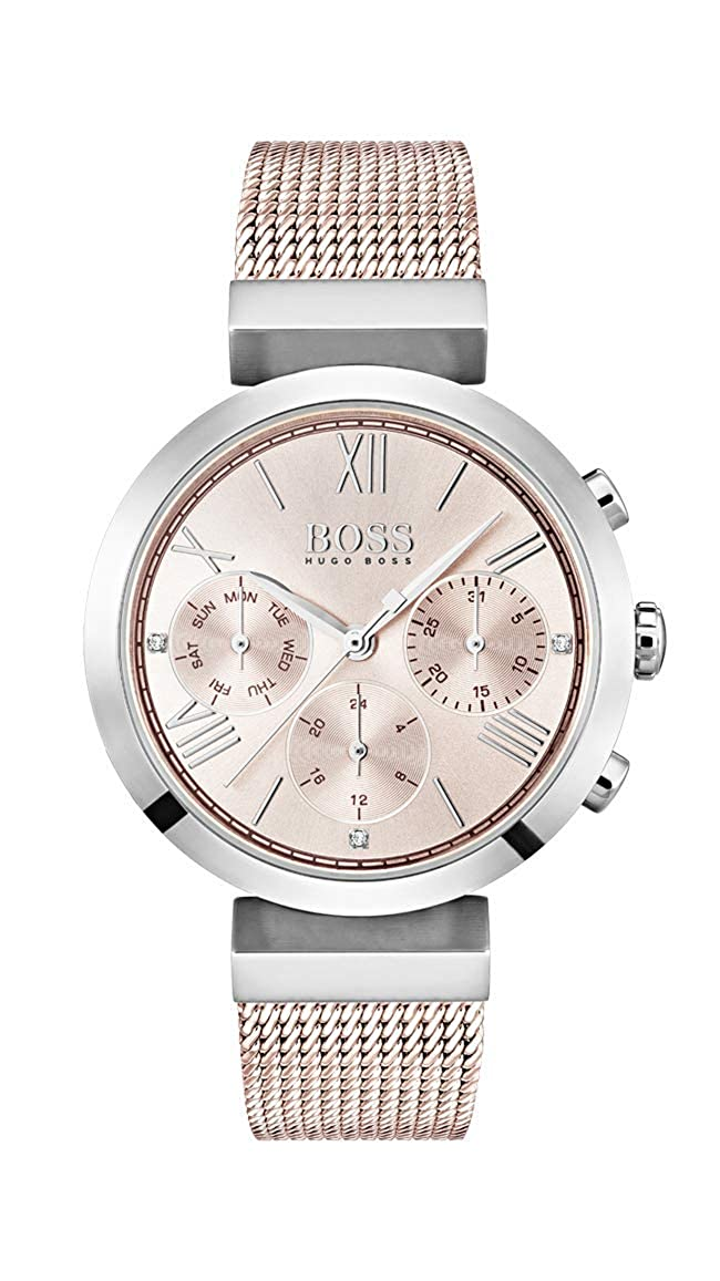 f0f63df03 Hugo BOSS Womens Analogue Classic Quartz Watch with Stainless Steel Strap  1502426: Amazon.co.uk: Watches