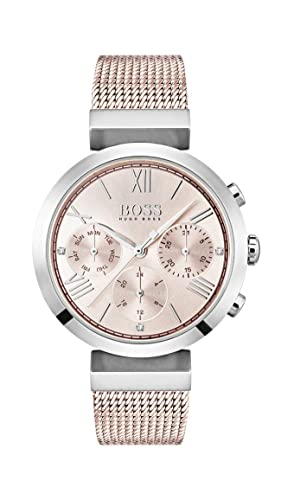 183cac44b Image Unavailable. Image not available for. Colour: Hugo BOSS Womens  Analogue Classic Quartz Watch with Stainless Steel Strap 1502426