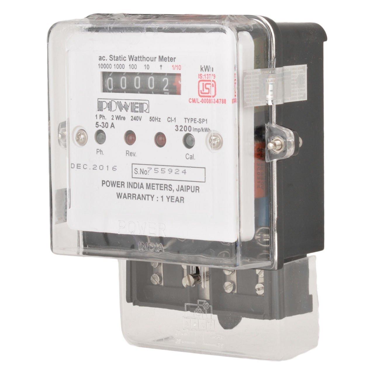 Power India Meters SF-EC1 Single Phase Electronic Watt-hour Meter