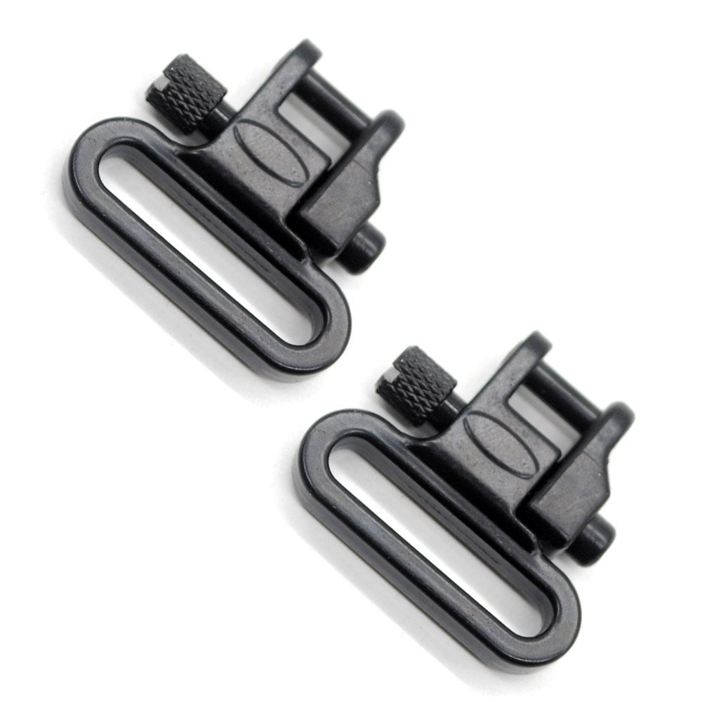 1 Pair Sling Swivels 1 Inch Heavy Duty 300 LB Quick Detach for Hunting Rifle Sling