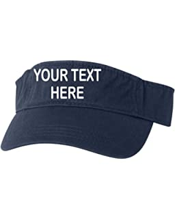 4a45d25118109 Go All Out Adult Customized Add Your Own Text Embroidered Visor Dad Hat