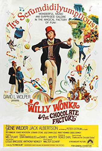 Willy Wonka and the Chocolate Factory POSTER Movie (1971) Australian Style A 11 x 17 Inches - 28cm x 44cm (Gene Wilder)(Jack Albertson)(Denise Nickerson)(Peter Ostrum)(Roy Kinnear)(Aubrey Woods)(Michael - Style Willy Wonka