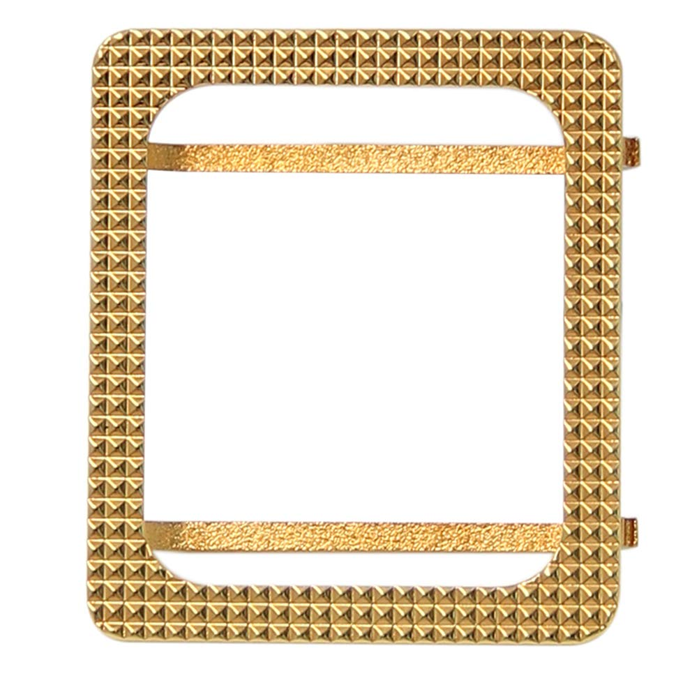 UKCOCO Square Apple Watch Case Metal Frame Protective Case Luxury Cover Shell Bumper for Apple Watch Series Paris Nail Pattern(38mm Gold) by UKCOCO
