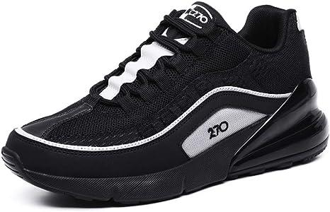 Hombre amortiguador de aire zapatos para correr Deportes Formadores amortiguadora de las zapatillas de deporte Ligera en caminar al aire libre Gimnasio Sendero de fitness atlético casual,Negro,39: Amazon.es: Deportes y aire libre