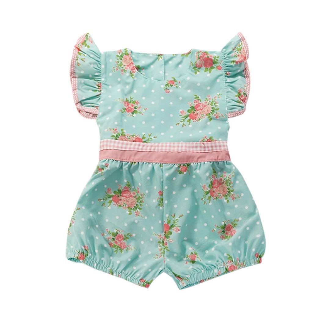 Sensail Bébé Fille Floral Imprimer Barboteuse Sunsuit Combinaisons Vêtements Tenues