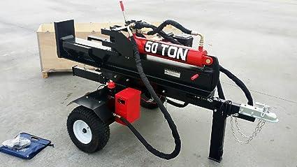Amazon.com: 50 Ton Log Madera divisor hidráulico 15Hp Motor ...