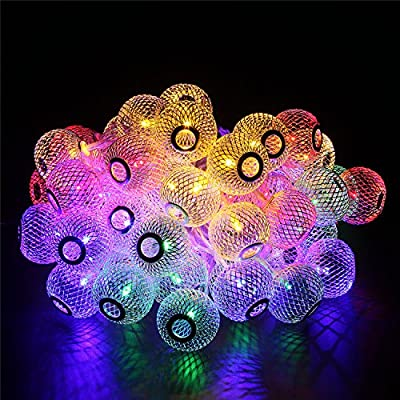 BlueFire Water Drop String Lights 31FT/9.5M with 50 LEDs Outdoor Strings Lights Christmas String Lights for Path Holiday Party Patio Lawn Christmas Xmas Tree