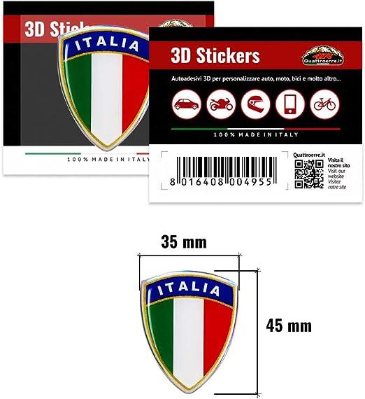 4r Quattroerre It 495 3d Aufkleber Klassischer Schild Italien Auto