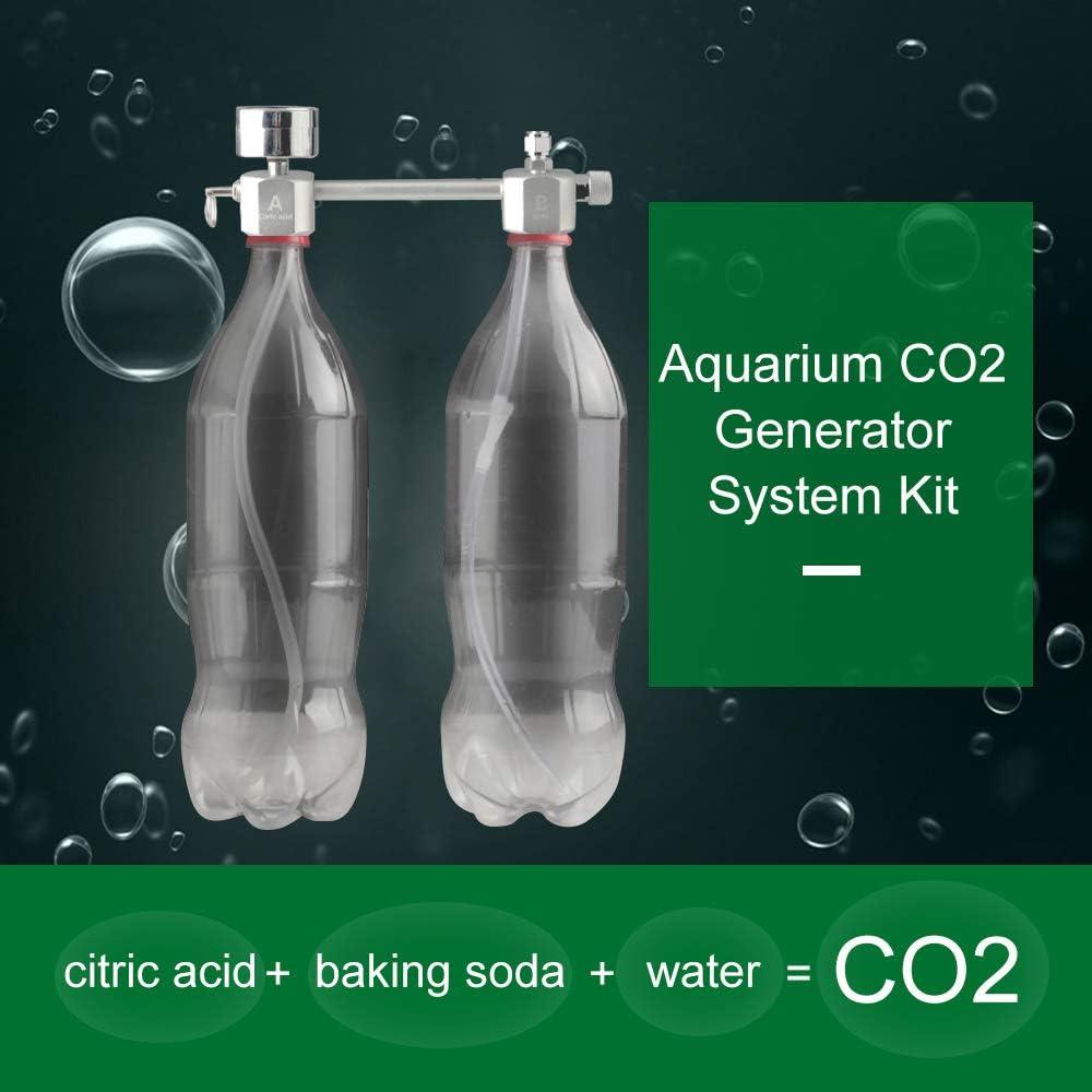 Festnight Aquarium DIY CO2 Generator System Kit CO2 Generator System with Bubble Counter /& Check Valve Carbon Dioxide Reactor Kit for Plants Aquarium
