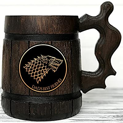 Game of Thrones Gifts / GoT / House Stark / Personalized Game of Thrones Gift / Winter is Coming / Engraved Mug Personal Gifts for Men / Beer Tankard, Christmas gift, Birthday Gift K51