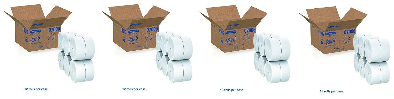 スコット07006 Coreless JRT Jr。Rolls、2層、1150 ft (12ケースロール) B078SYMRR1  4-(Case of 12 Rolls)